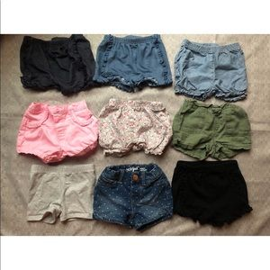 9 Pairs Baby Toddler Girl Shorts 12 - 18 Month